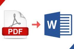 Convertir le PDF vers Word
